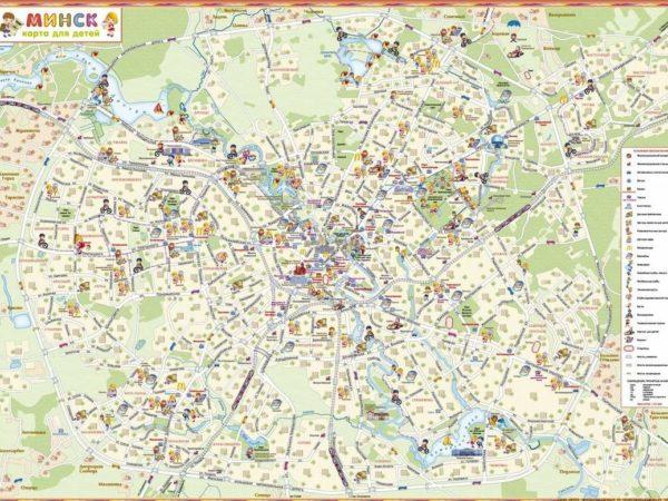 Карта минска для детей